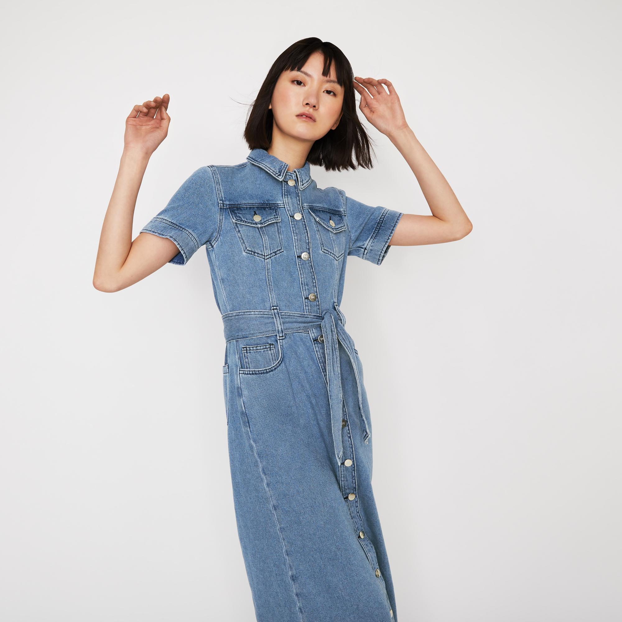 warehouse western midi dress
