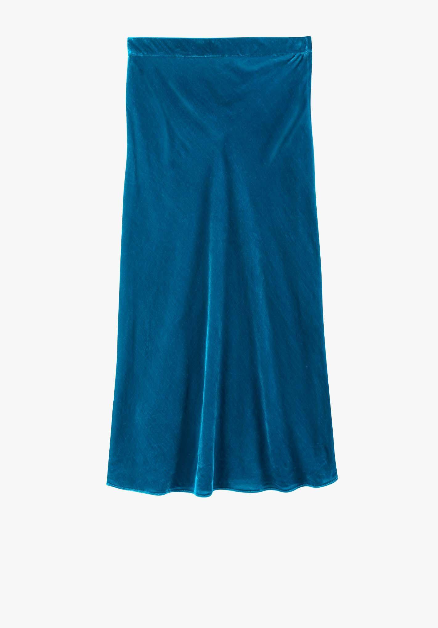 Bias Cut Velvet Skirt Endource