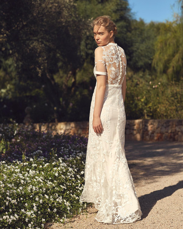 Embroidered Wedding Dress.Poppy Embroidered Wedding Dress