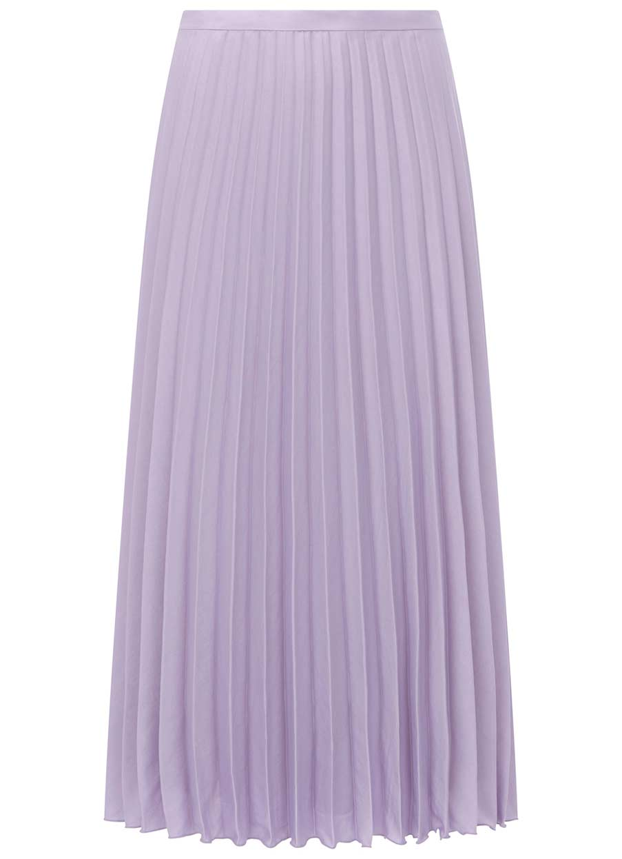 5439feda4ee8 Lilac Satin Pleated Skirt | Endource