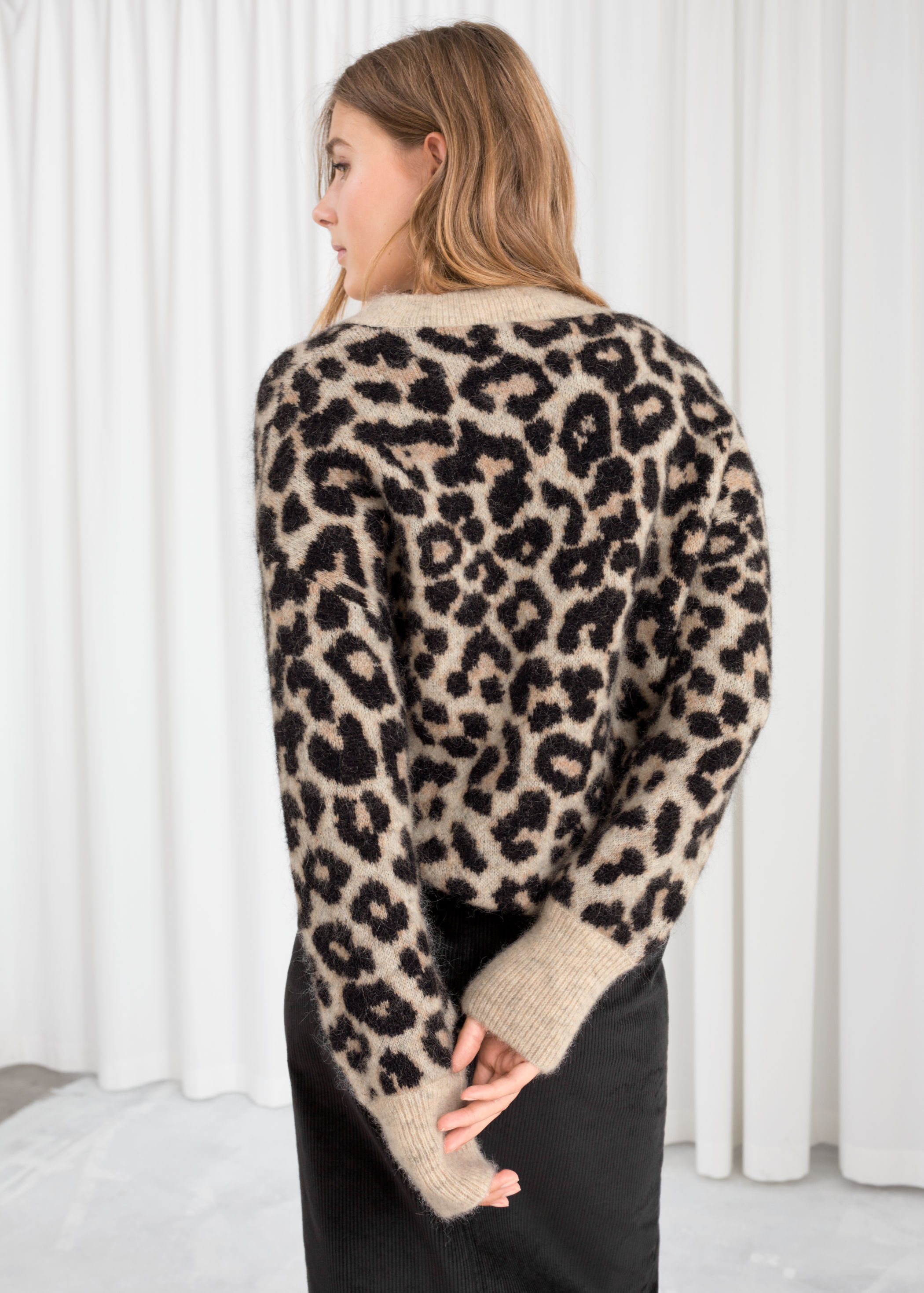 factory outlet shop for luxury top-rated fashion Oversized Leopard Sweater