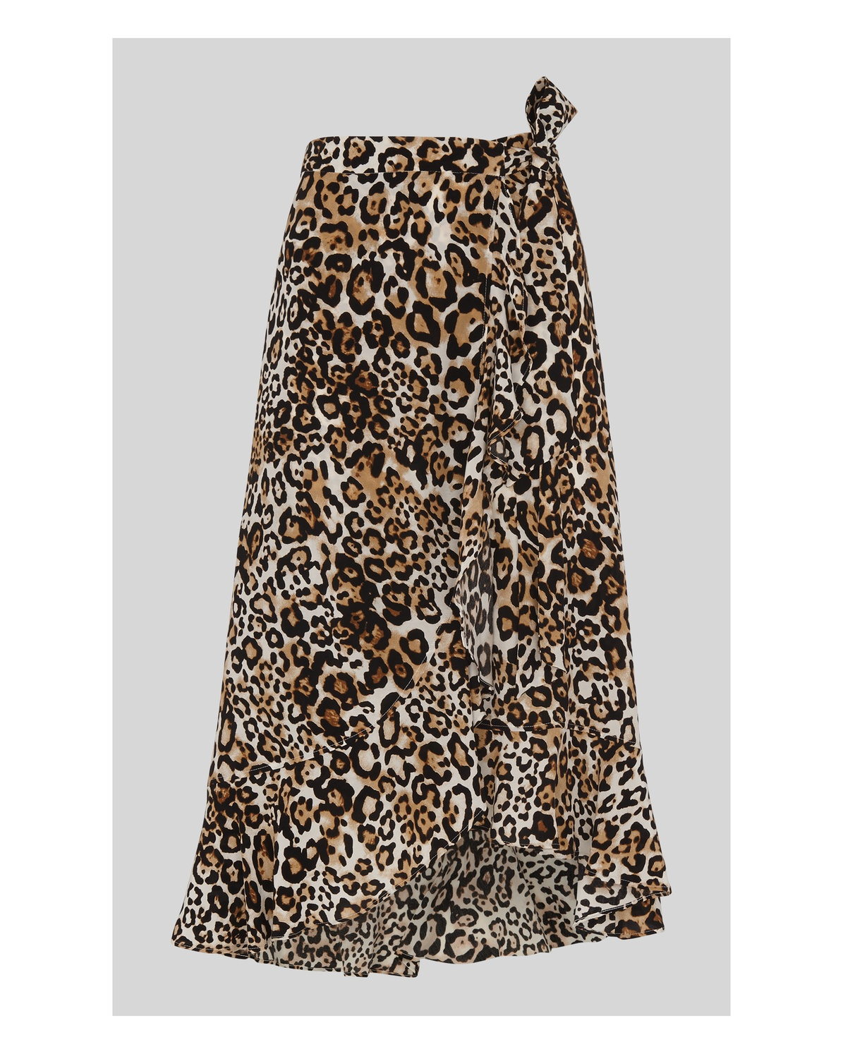 faa454810d15 Animal Print Frill Wrap Skirt | Endource