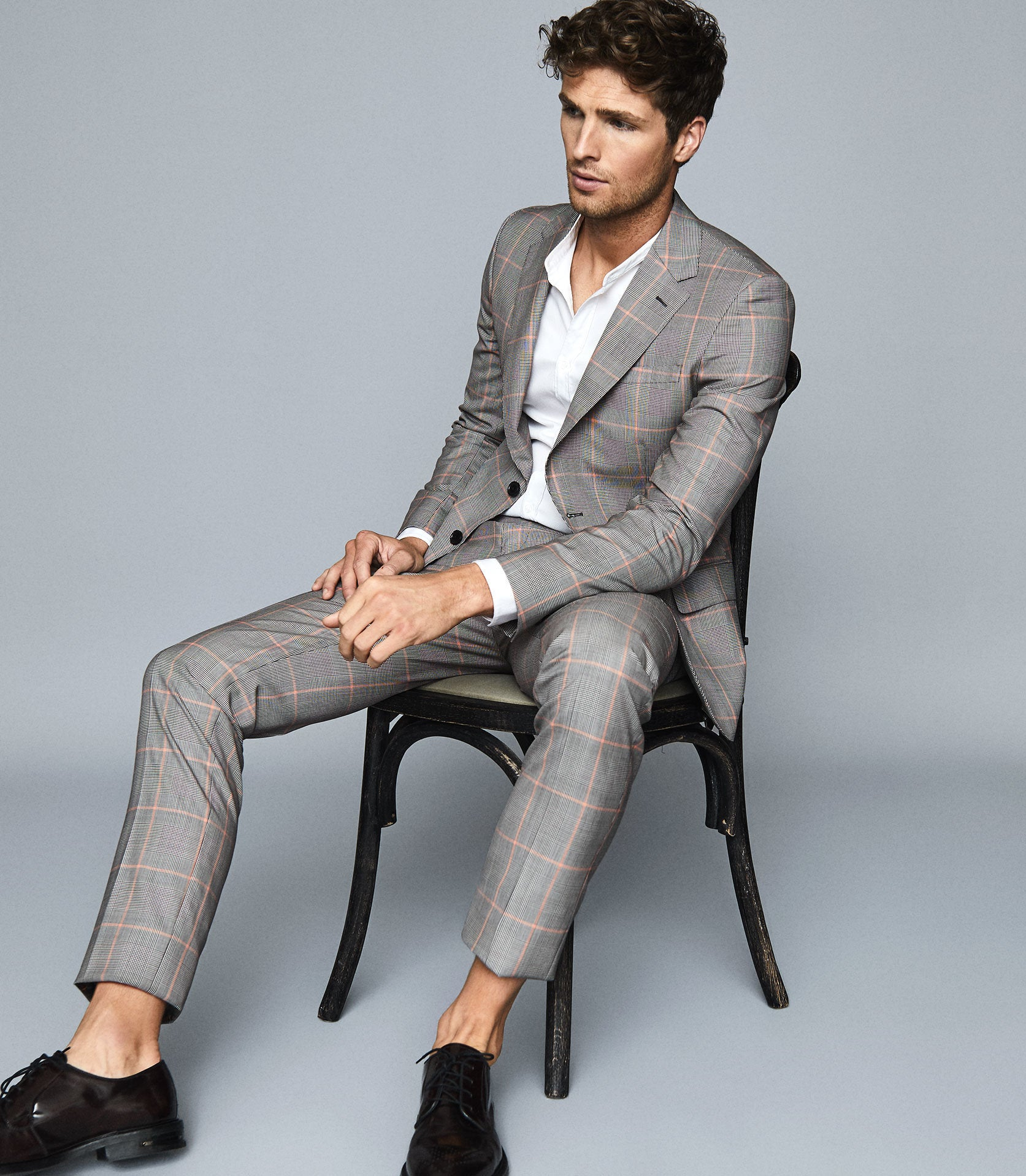 Grand Wool Checked Two Piece Suit Endource