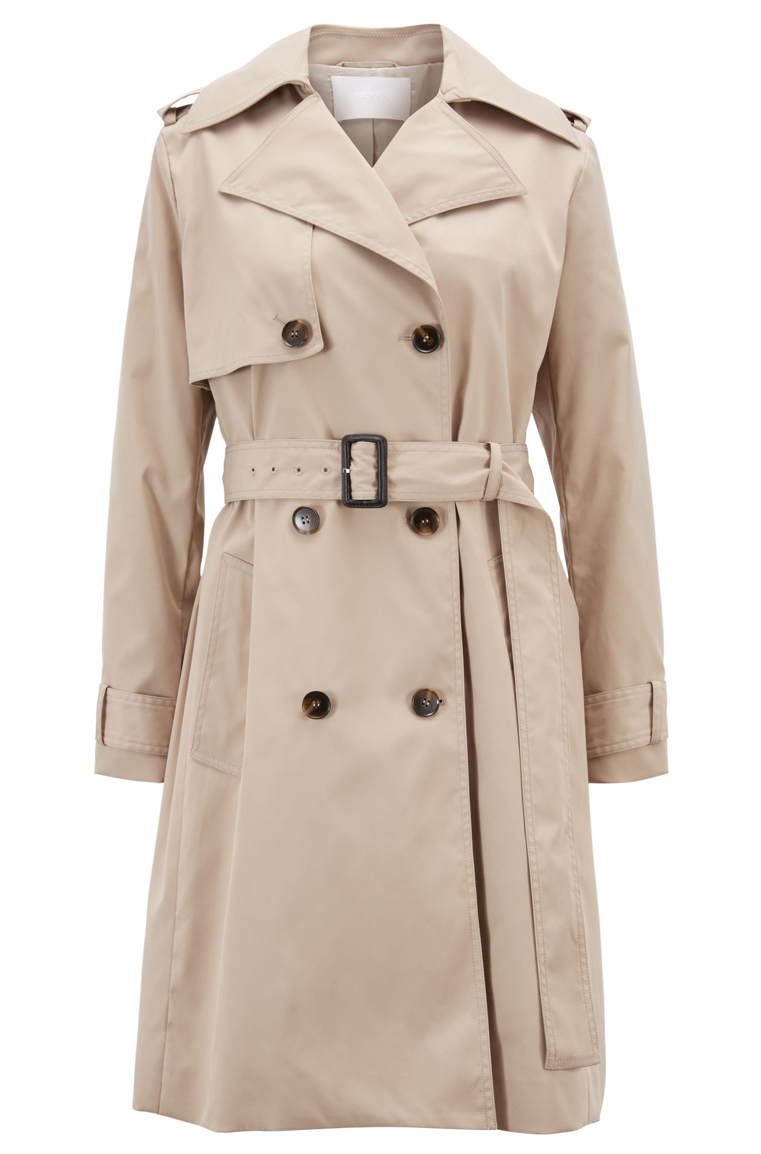 0baa4d038325a Double-Breasted Trench Coat with Oversized Lapels | Endource