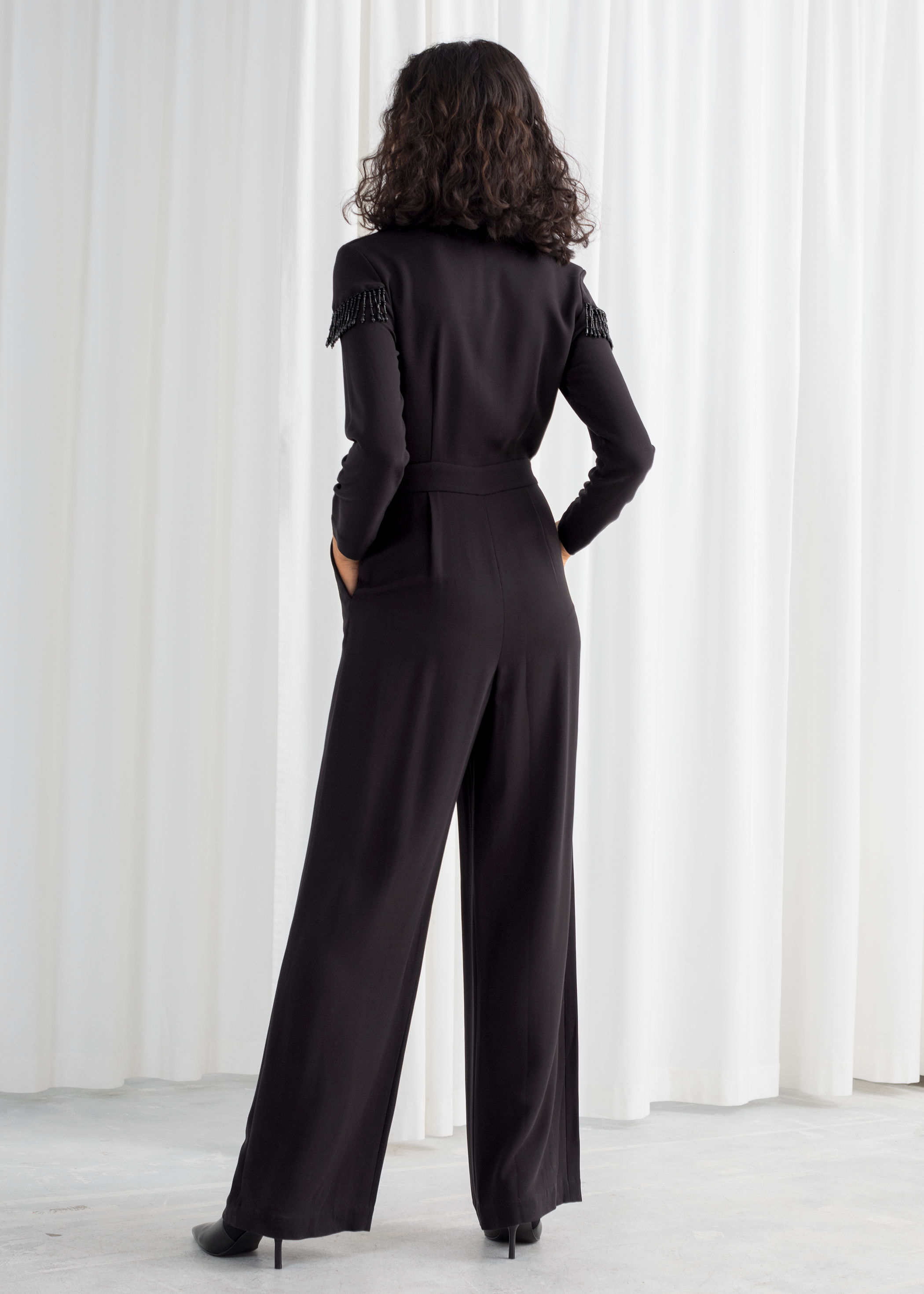 good out x 2019 professional outlet Beaded Long Sleeve Jumpsuit