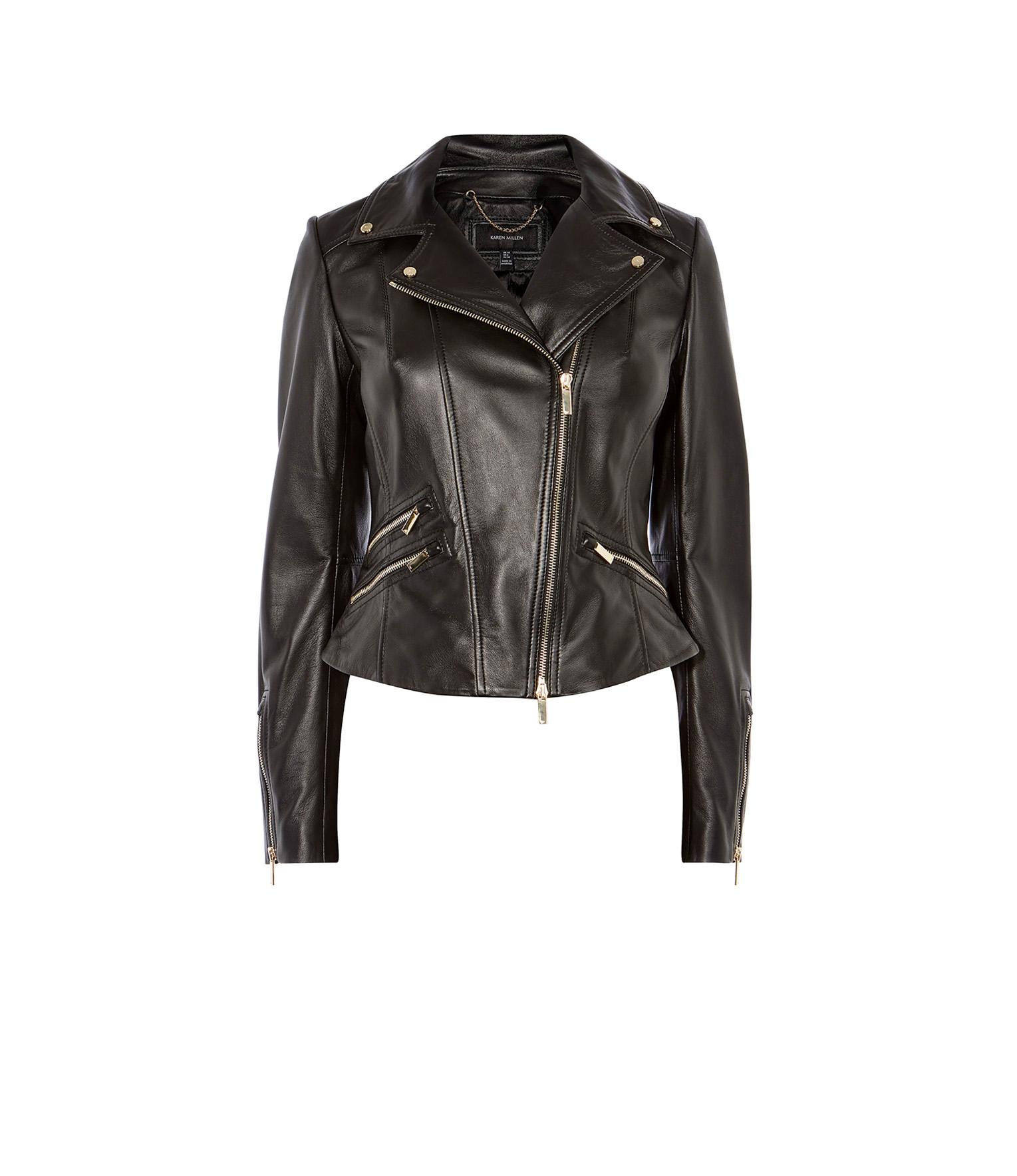 7cc6d6468 Leather Jacket Gold Trims