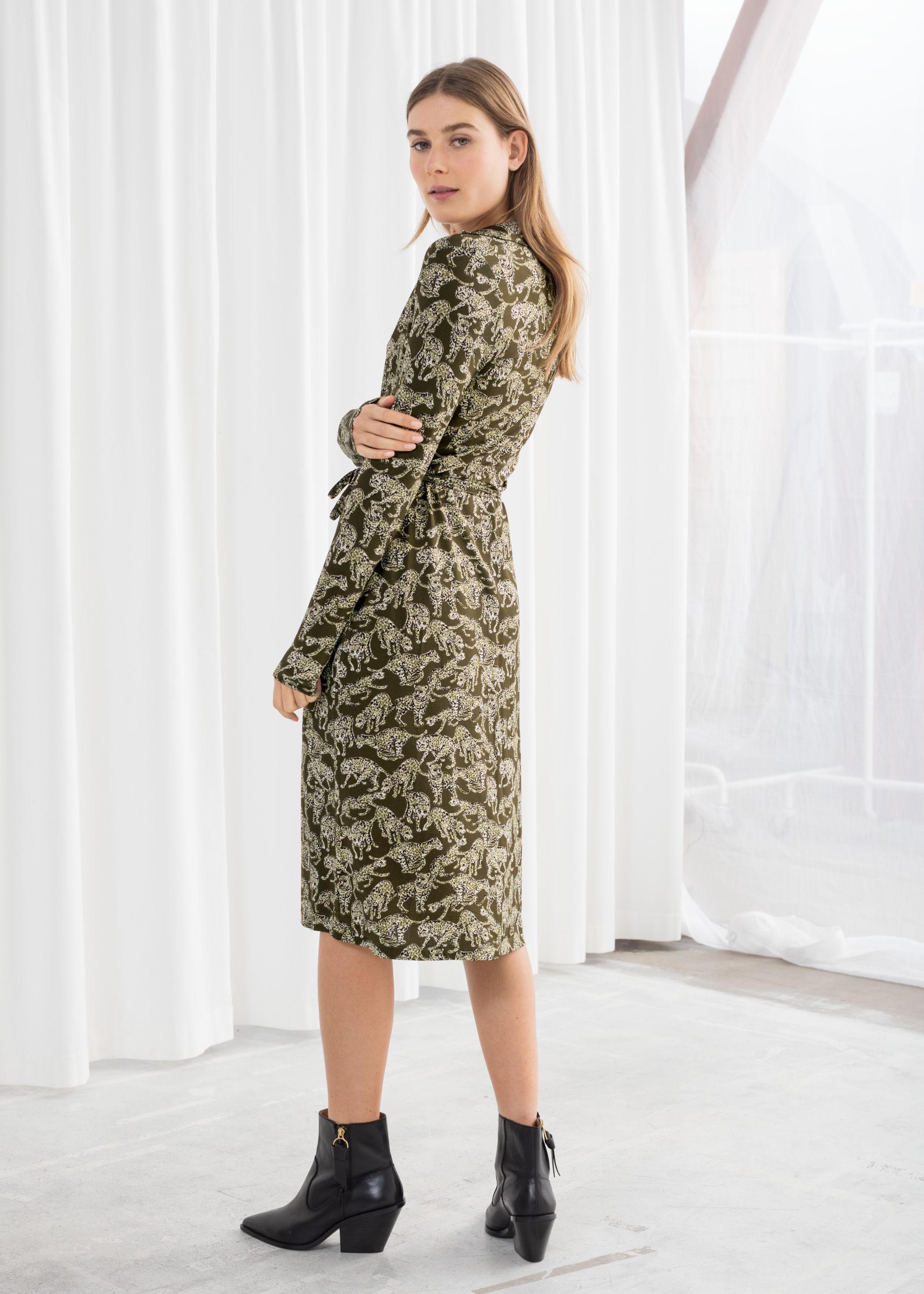 0d7305829 Leopard Print Wrap Dress   Endource