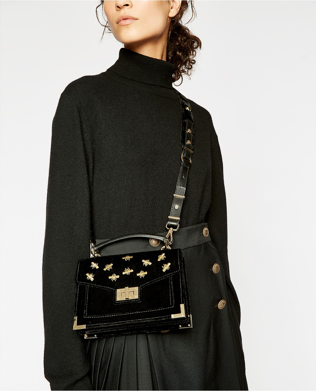 nombreux dans la variété enfant grand choix de 2019 Mini Emily Bag in Embroidered Velvet