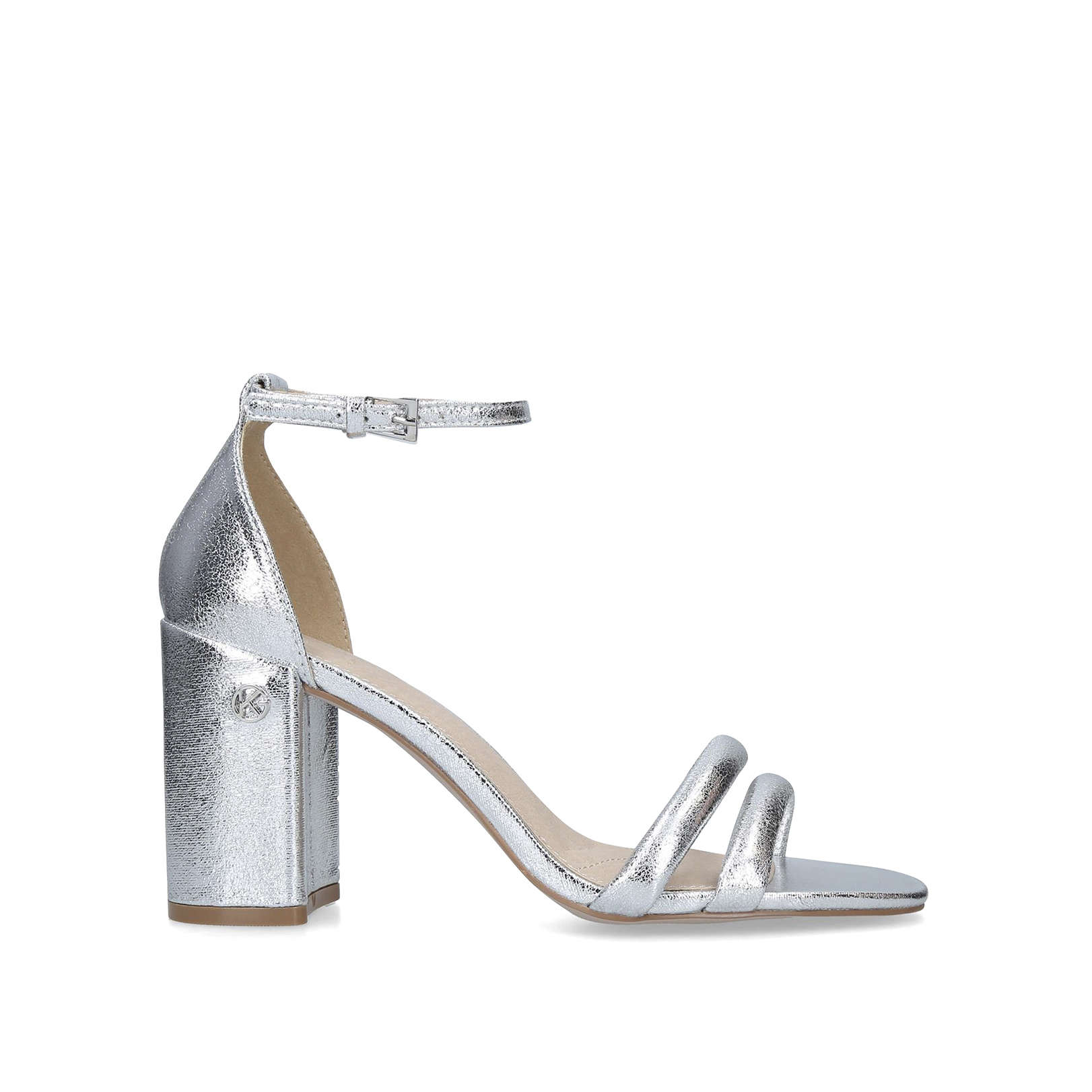 competitive price various styles low price sale Frankie Metallic Block Heel Sandals