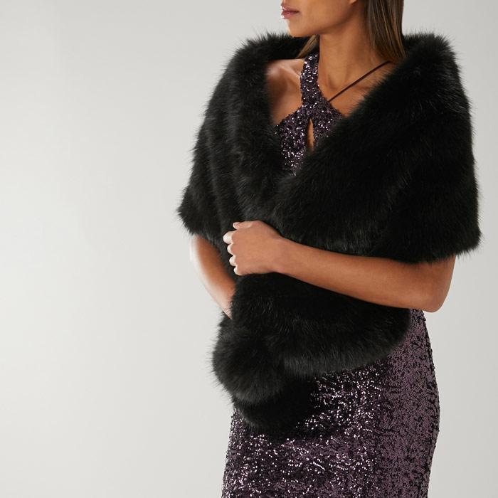 bda282148 Luella Pom Pom Faux Fur Scarf | Endource