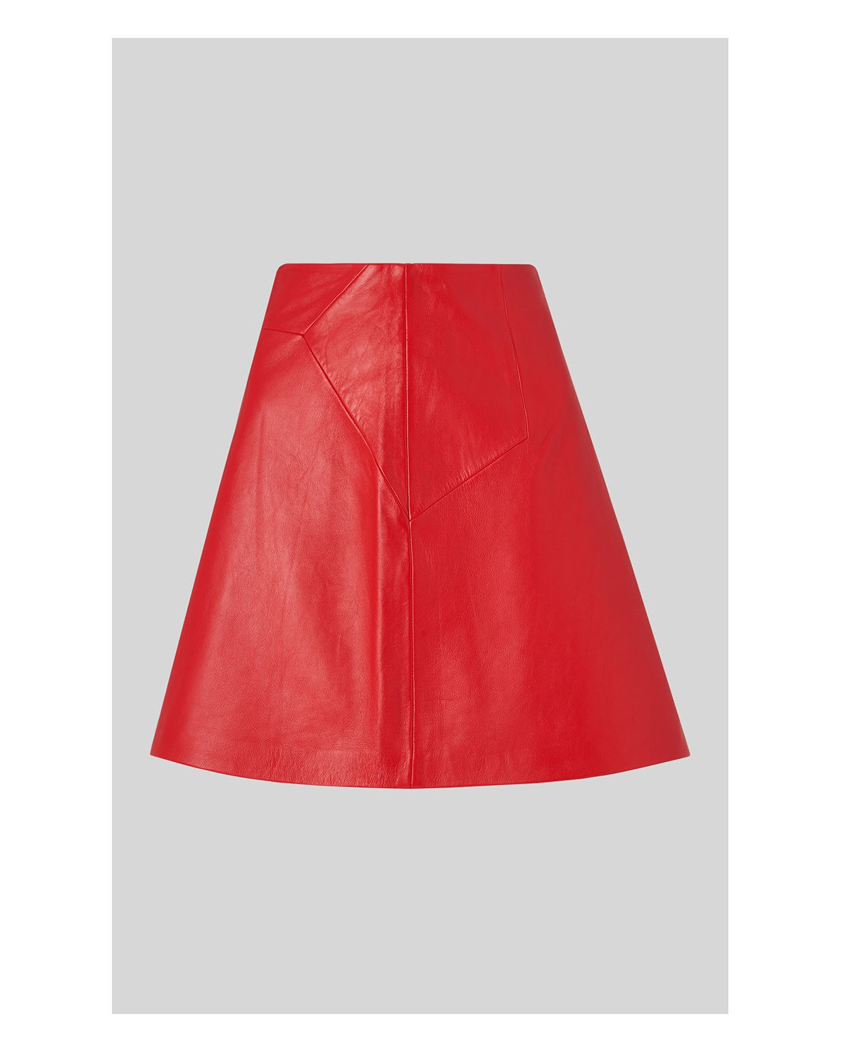 shop for genuine new arrivals exquisite style Leather A-Line Skirt