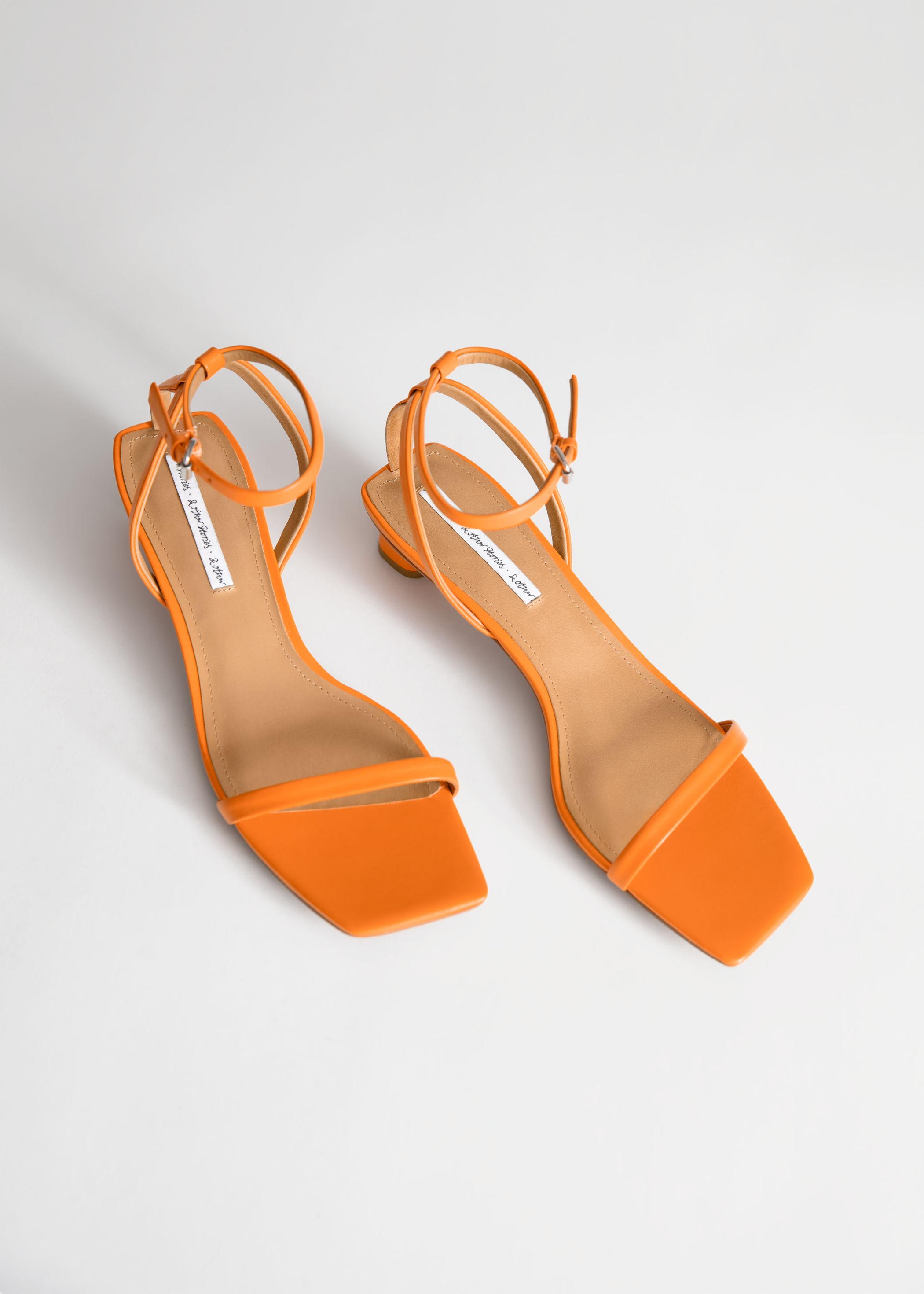 ea9d3a8e36f Square Toe Kitten Heel Sandals