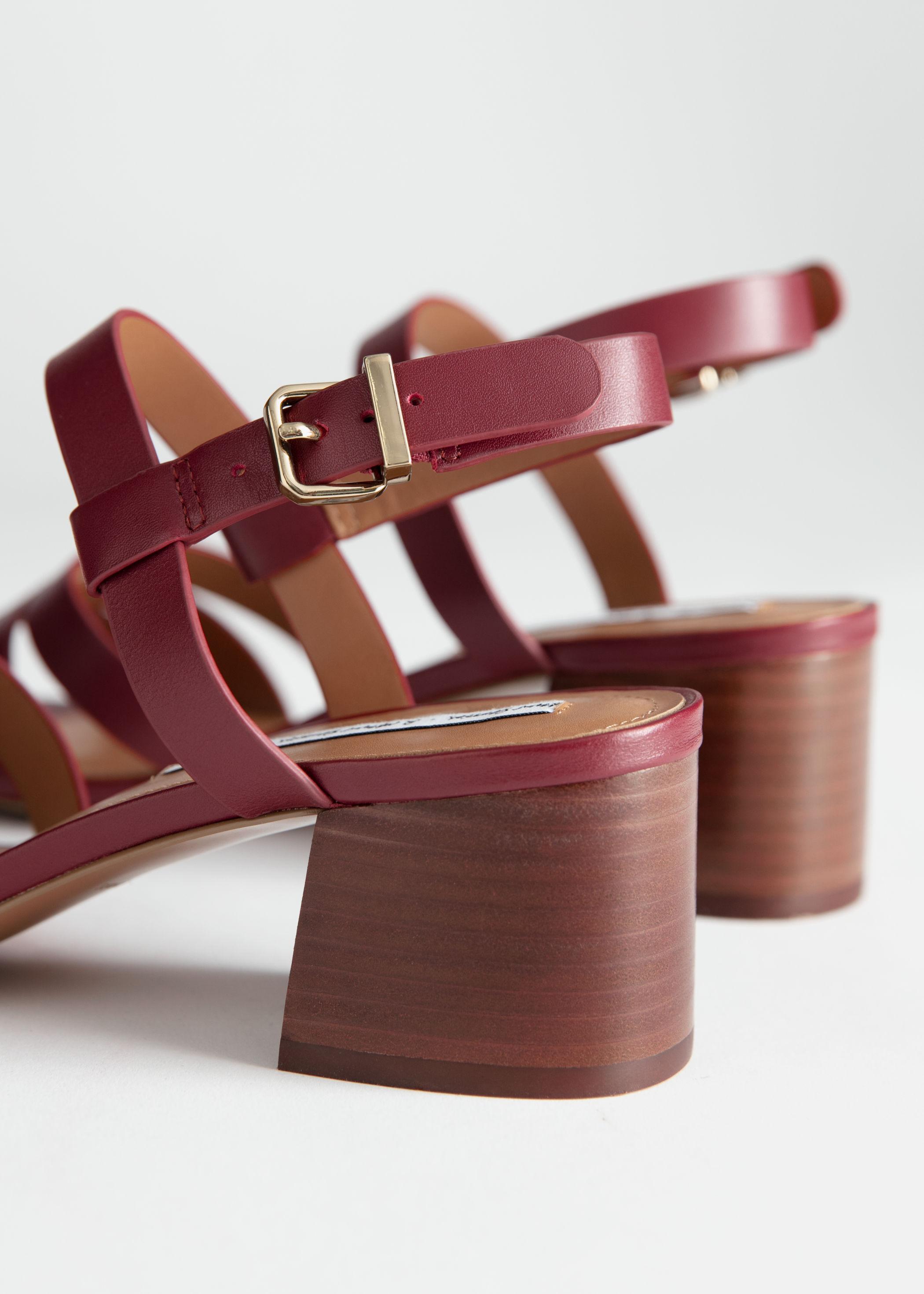 f935e32684b Trio Strap Heeled Sandals