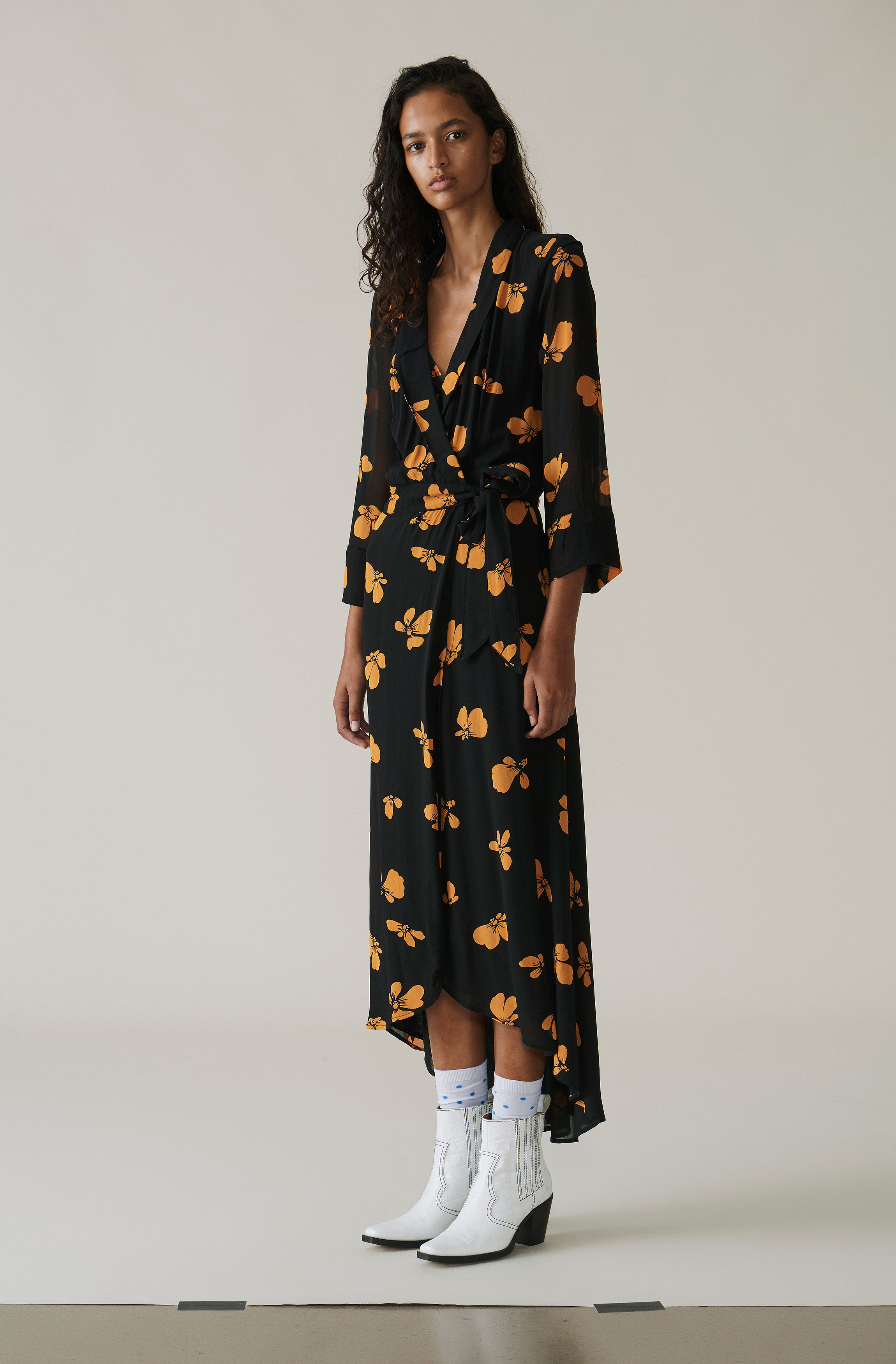 various kinds of release date online sale Fairfax Georgette Wrap Dress