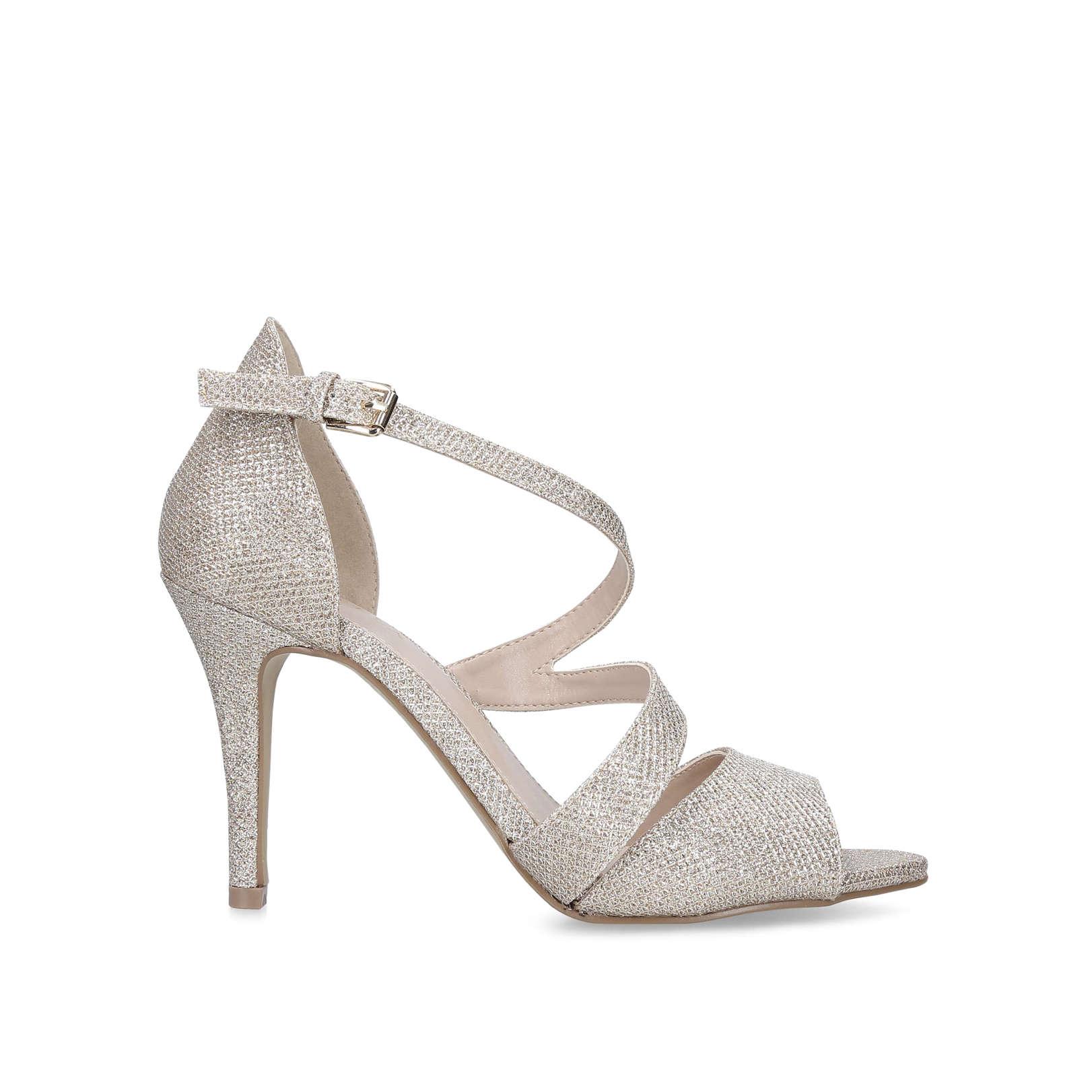 a0ed1ccd869 Lightning Metallic Gold Stiletto Heel Sandals