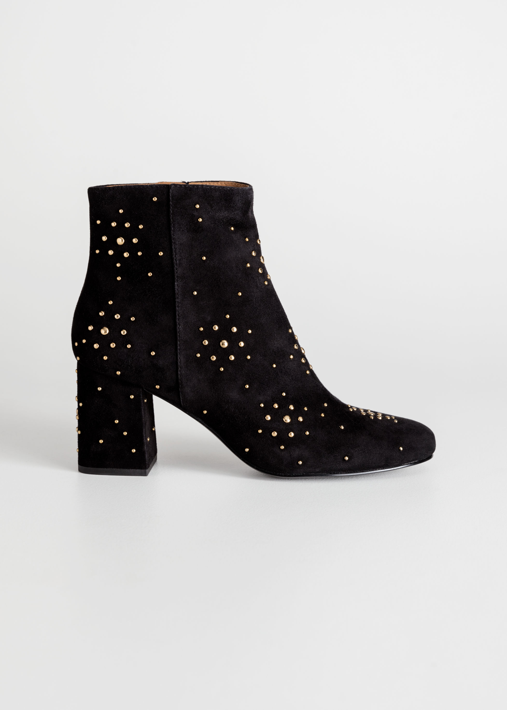66a2fc4697e46 Dome Studded Suede Boots | Endource